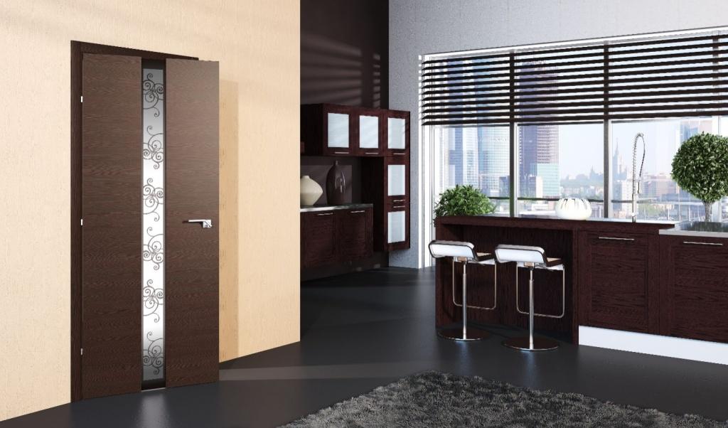 дверь венге со стеклом