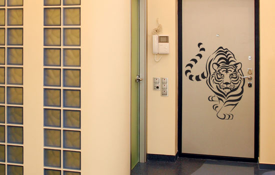 Декор покраски дверей
