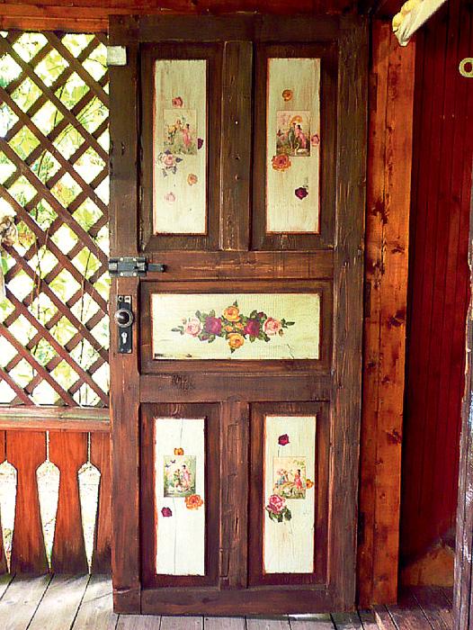 Как старую дверь сделать как новую фото