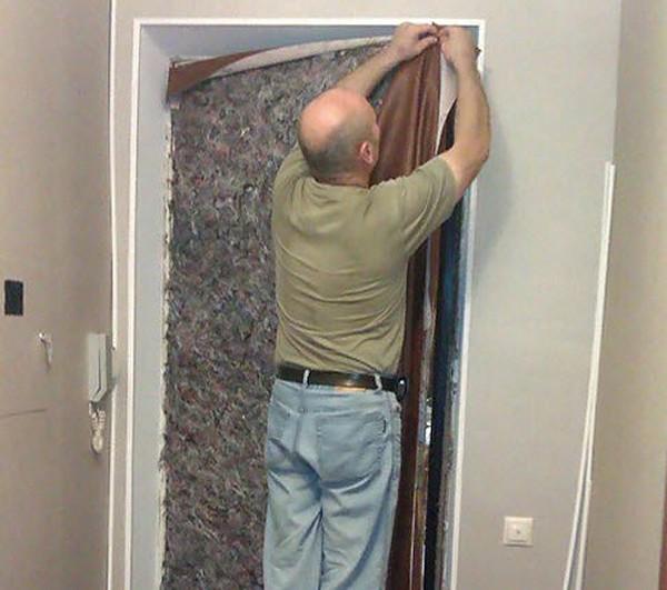 Как обшить металлические двери - 1-giper.com.ua